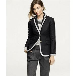 j. crew Hacking jacket in tipped double-serge wool